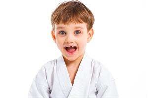 Young Boy in Karate Pose